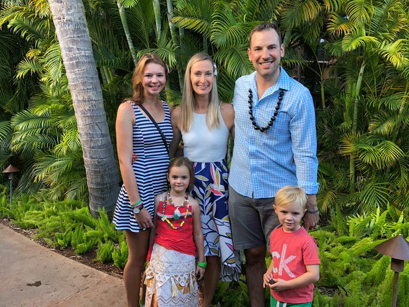 Alicia und Ryan Familie